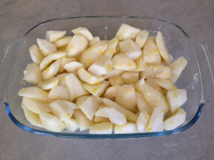 pears in the baking dish 28-7-14
